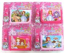 New 20 Sets Sofia the First watches Wristwatch and purse wallet Party Gift