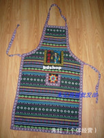 apron embroidered - High quality Wuzhen blue calico apron kitchen good helper national wind embroidered apron Retail and J21