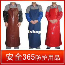 Wholesale Pu Labour protection Waterproof Pollution Prevention Stain resistant Grease Proofing Acid and alkali resistant Apron