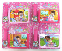 Children's battery doc - New Sets Doc Mcstuffins Clinic watches Wristwatch and purse wallet Party Gift
