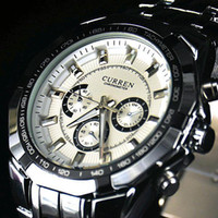 Wholesale Curren Mens quartz stainless steel precision inveted Military Man watch ATM waterproof Dropship Brand Hot sale