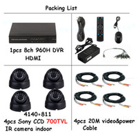 Wholesale Sony ccd TVL indoor IR Cameras Night Vision home Surveillance CCTV System ch H DVR Surveillance System ch DVR Kit