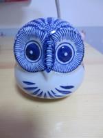 Artificial ceramic figurines - China Jingdezhen Blue and White Porcelain Ceramic Figurine Owl N2