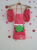 advertising apron - 10pcs Small oversleeve amp apron Child waterproof apron painting clothes advertising child apron