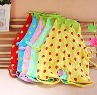 Wholesale CL0103 New Baby Bib apron Neck Wears Strawberry Cotton apron Cute Baby apron