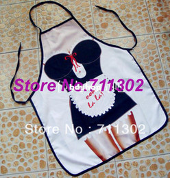 Wholesale ITATI Design Sexy Maid Kitchen Cooking Apron Funny Women s Gift sexy aprons for Barbeque penis adult bibs