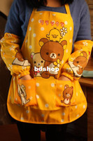 bears work - kawaii to death canvas ARM SLEEVES SAN X rilakkuma apron waiter bear novelty funny work cooking accessories for women men kid