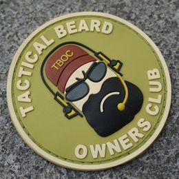 Wholesale Tactical Beard Club Patches Velcro Armband Swat Combat Team Symbol Logo Eco friendly Pvc Material Tactical Beard