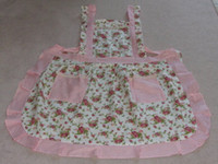 beautiful cooking - Beautiful Country Style Rose Printing Kitchen Cooking Baking Apron