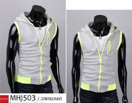 Wholesale Men s Sleeveless Hoodies Vest Coatt Stylish Cotton Waistcoat Slim Knitting Vest M XXL