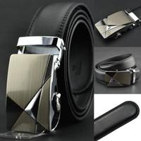Wholesale HOT Fashion MEN S Genuine Leather Waist Strap Belts Automatic Buckle Black