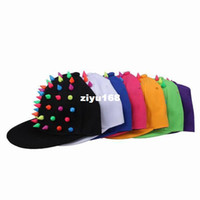 Wholesale Colors for you Pick Canvas Acrylic Rivets New Trend Punk Spike Unisex Adults Outdoors Baseball Hat Cap DVU