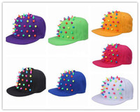 acrylic canvas - 7Colors bag Canvas Acrylic Rivets High Punk Spike Unisex Adults Outdoors Baseball Hat Cap DVU1