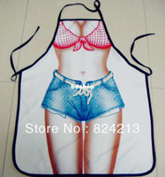 barbecue dinner - New COOKING APRON Novelty Funny SEXY women men DINNER PARTY blue jeans bikini gift barbecue BBQ
