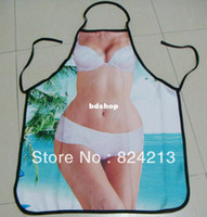 beach dinner - New COOKING APRON Novelty Funny SEXY women beauty beach bikini women white lace blue DINNER PARTY