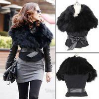 Jackets Women Cotton 2013 New Fall Winter Hot Sale Sexy Womens Faux Fox Fur Vest Waistcoat Jacket Sleeveless Tops Coats With PU leather belt L0341479