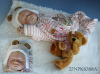 Unisex Birth-12 months PVC New Silicone Simulation Baby Doll Cute Super Lifelike Reborn Baby Girl Doll For Children Free Shiping