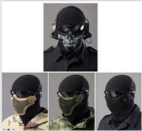 Wholesale EMS BB TMC Metal Steel Wire Half Face MeshMask single