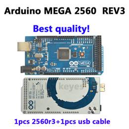 Wholesale Freeshipping Mega R3 Mega2560 REV3 ATmega2560 AU Board USB Cable compatible arduino