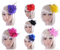 Wholesale Clip Top Hat Wholesale - 2016 New Fashion Fascinators 13cm Mini Top Hat Hair Clips, Wedding Party Hair Accessories Free Shipping