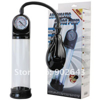 Wholesale Brand new automatic pressure penis pump penis enlargement men s sex toys with pressure gauge