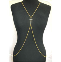 Wholesale European Style Silver Gold Plated Alloy Chain Cross Body Chain waist chain Necklace Pieces