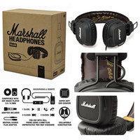 Headband 3.5mm DJ Original Marshall Major Leather Noise Cancelling Deep Bass Stereo Monitor DJ Hi-Fi Headphones Headset W Remote HK free ship