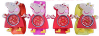 Wholesale fashiong kids peppa pig slap watches children cartoon slap silicone watches for kids colors drop shipping