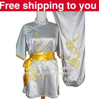 Wholesale Customize Chinese wushu uniform lucky clouds embroidery Kungfu clothing performance Martial arts women men children girl boy