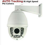Wholesale 6 inch TVL mm Lens x Optical Zoom Intelligent Auto Tracking PTZ Dome IR Speed Camera