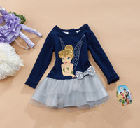Kid Girl Clothes Children Dresses Long Sleeve Cartoon Mice P...