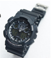 Wholesale Luxury GA100 GA shocks Men sport digital cheap children wrist watch student candy Rubber wristwatches man GA Sports Watches