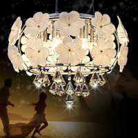 Fashion led crystal pendant light modern brief restaurant li...