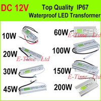 Wholesale High Quality V W W W W W W W W LED Driver Power Supply Waterproof Outdoor IP67 DHL