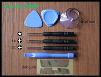 Wholesale 100 set bag in1 For iPhone S triangle pry bars tool repair tool Plus magnetic screwdriver Free to send S M gum