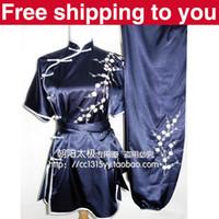 Wholesale Customize Chinese wushu uniform plum blossom embroidery Kungfu clothing performance suit Martial arts women children men girl