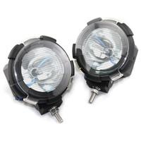 Wholesale High Quality Vehicle Xenon Light inch W Car HID Xenon Driving Flood Spot Beam Light Offroad lamp H3 Bulb K Q0092