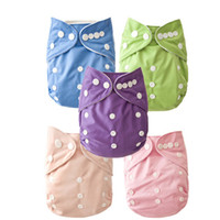 Wholesale Hot Sales Plain Color Cloth Diapers Nappies Covers Insert One Size Reusable super soft tensile strength permeability