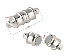 Free shipping 17*6mm Magnetic Clasp, silver plated Bracelet Necklace Magnetic Clasp,Fashion Jewelry Clasps