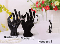 Stone Jewelry Packaging & Display  3 color for choose OK Hand Ring Jewelry Showcase Display Stand Window Show Holder Black Velvet