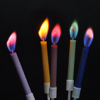 Wholesale 2014 Special offer the new color creative gifts romantic candle flame birthday cake candles