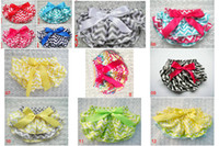 Wholesale Baby Chevron bloomers Toddler infant Culottes Baby Girl s tutu bloomer girl striped shorts Pleated lace shorts mini Culottes colors
