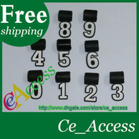 Wholesale softball charms new silicone digital Number Pendant for baseball softball necklace