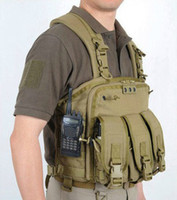 Wholesale WARLORD Tactical vest military SWAT hunting vest with waterproof pocket for map documents D nylon YKK zipper