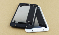 Wholesale Back Glass Battery Housing Door Cover Replacement Part GSM for iphone S Black White Color