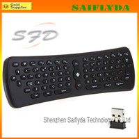 Wholesale T3 GHz Wireless Qwerty Keyboard Mini Fly Air Mouse Laptop Tablet Accessories Remote for PC Androi