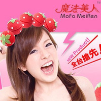 Wholesale 1500pcs Magic Beauty Strawberry Balls Soft Sleeping Sponge Hair Care Curler Rollers For Women K07459