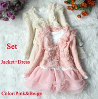 Wholesale Retail Dress Jacket Beautiful Girls Cardigan And Dimante Dress Tutu Baby Kids Children Clothing