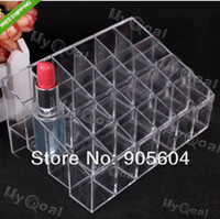 Wholesale Practical Clear Acrylic Cosmetic Makeup Lipstick Storage Display Stand Case Rack Holder Organizer Makeup Case
