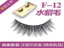 Wholesale F12 mink fur Natural Long natural black hand made eyelash extensions mm Full Strip Lashes individual pack packs